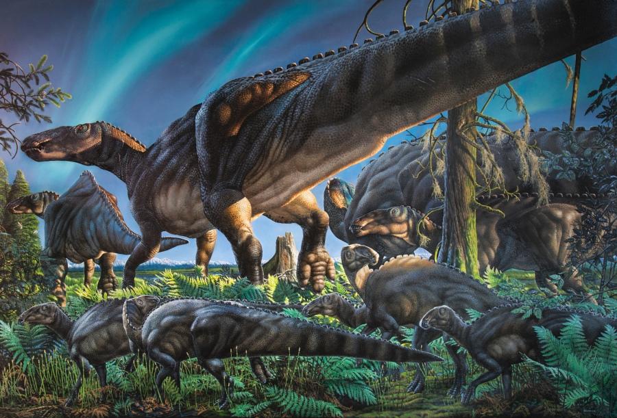 Ugrunaaluk kuukpikensis, painting by James Havens
